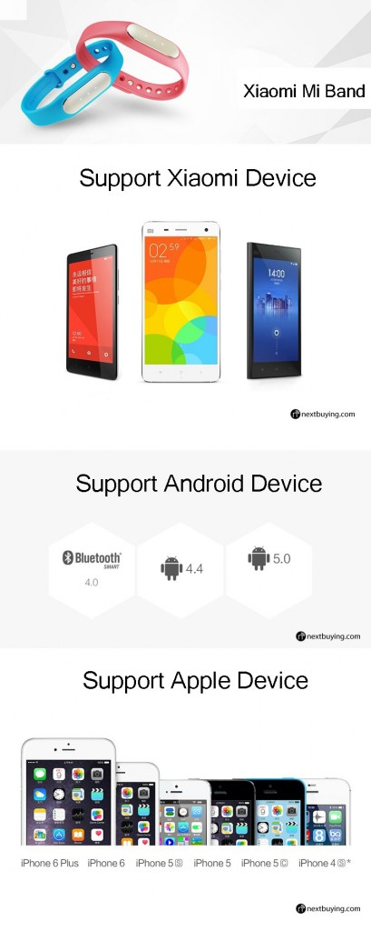 xiaomi miband support device