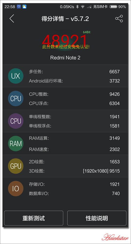 Xiaomi Redmi NOTE 2 Antutu