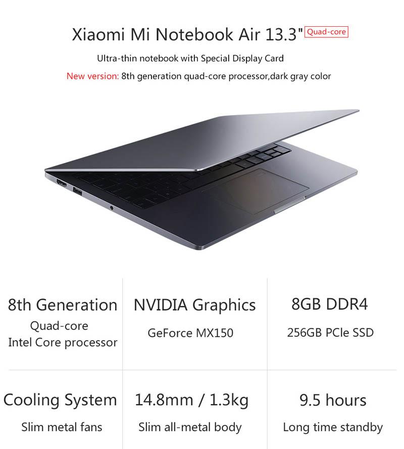Xiaomi Mi Notebook Air 13 2018 CPU Intel 8a i5 i7